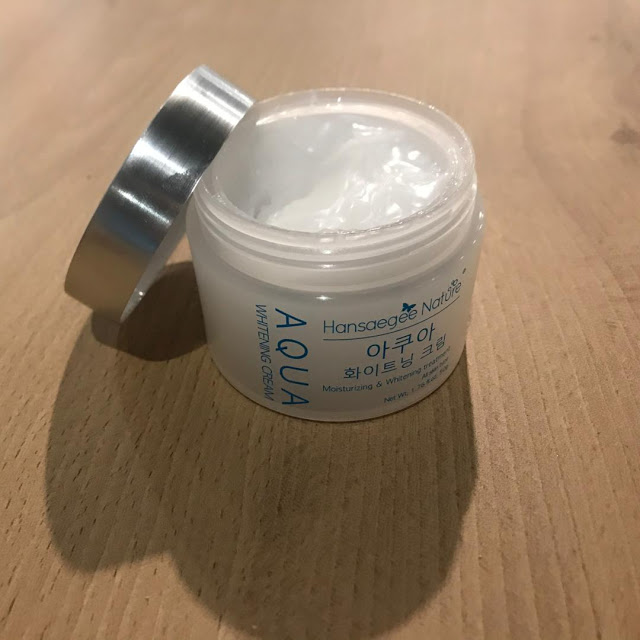 Ingredient Water based moisturizer Aqua Whitening Cream