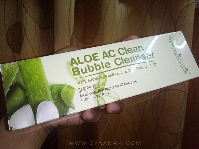 Pencuci Muka Aloe AC Clean Bubble Cleanser