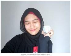 apply Aqua Whitening Cream keseluruh muka
