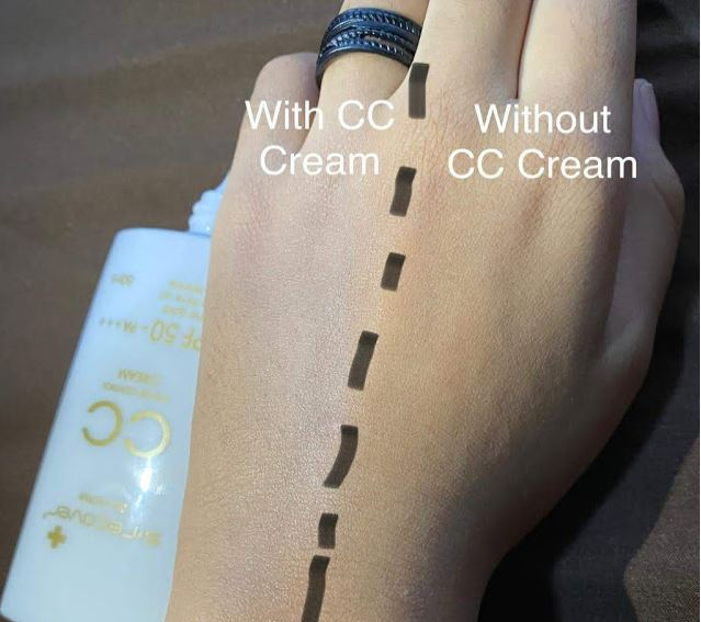 Perbezaan with and without CC Cream