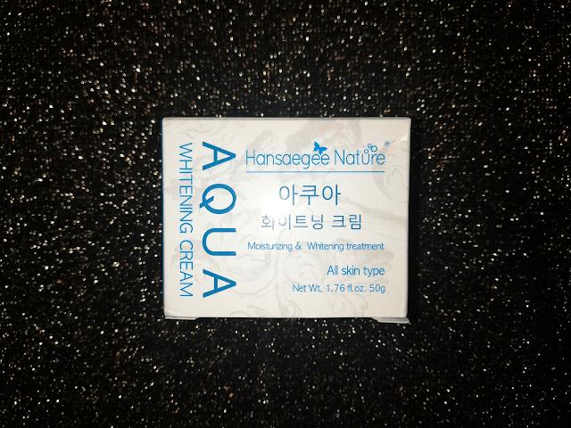 Packaging Aqua whitening cream