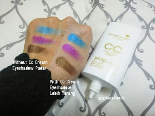 with and without CC Cream 2