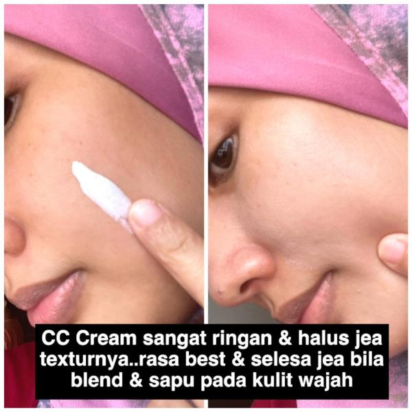 CC Cream sangat ringan and halus tekstur nya
