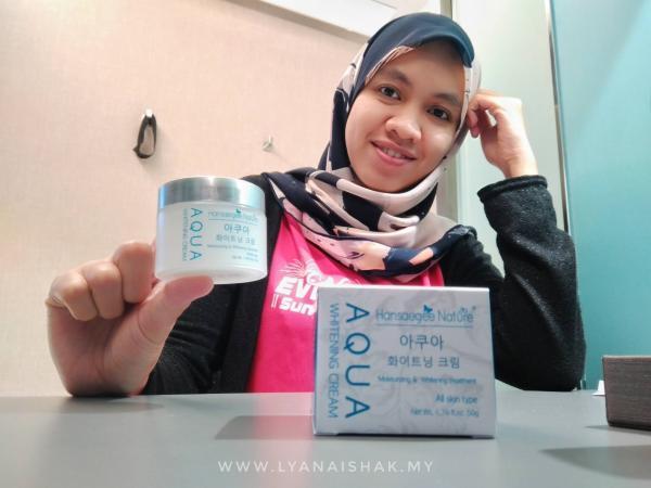 Review daripada Yana Selepas guna Aqua Whitening Cream 2