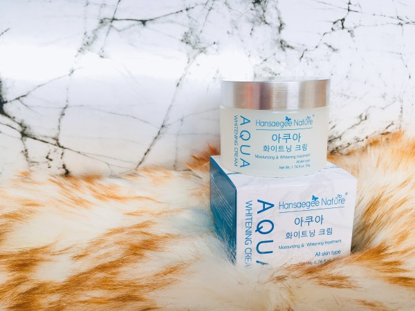 packaging aqua whitening cream