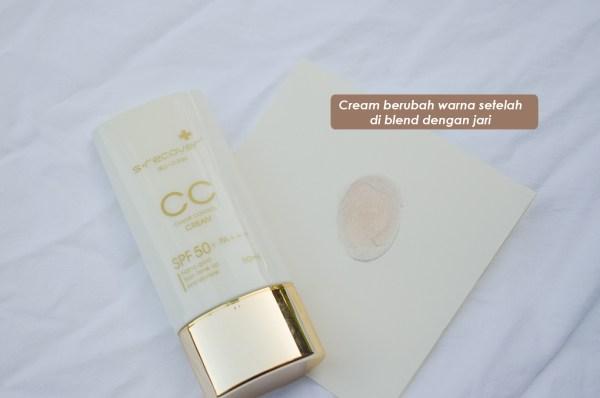 cream berubah selepas blend