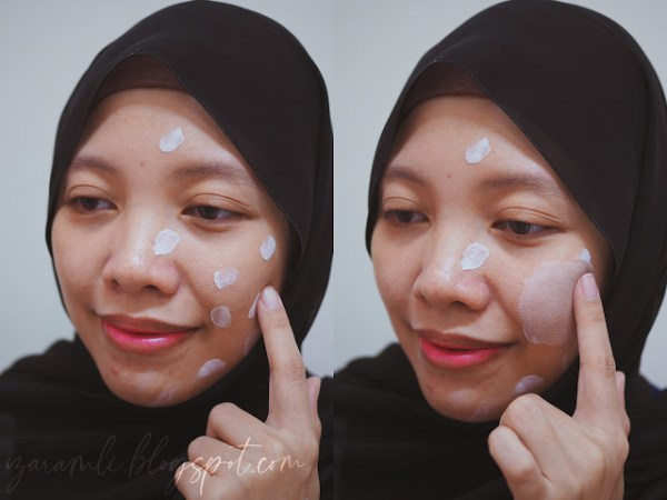 sapu pada permukaan muka