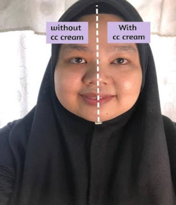 perbezaan kulit muka pakai dan tak pakai