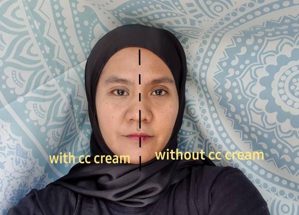 perbezaan muka selepas sapu
