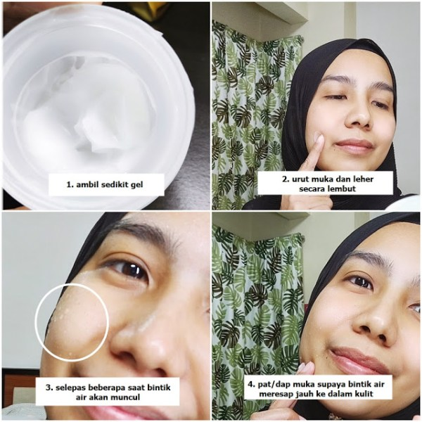 sapu pada permukaan kulit muka