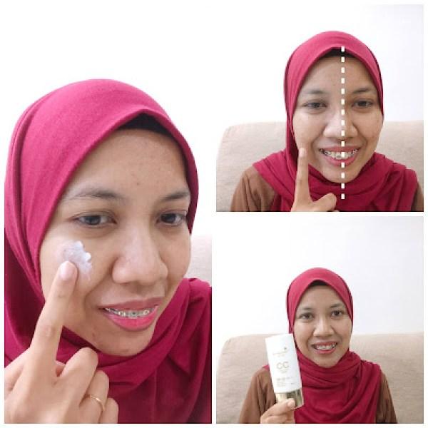 kulit muka lebih sekata dan natural