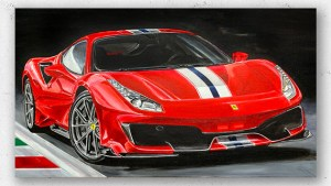 Ferrari 458 Speciale Artwork by Hans Baakman