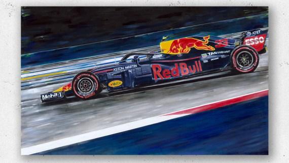 Max Verstappen Artwork by Hans Baakman