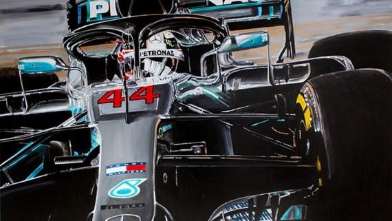 Lewis Hamilton Artwork by Hans Baakman