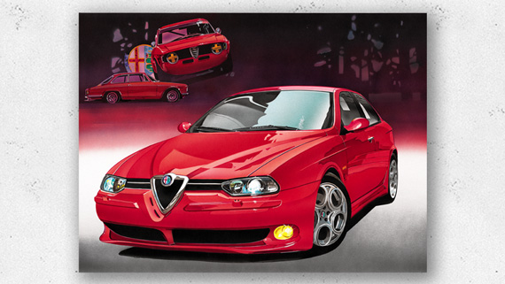 Artwork Alfa Romeo 156GTA Hans Baakman