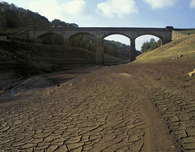 River bed dried up