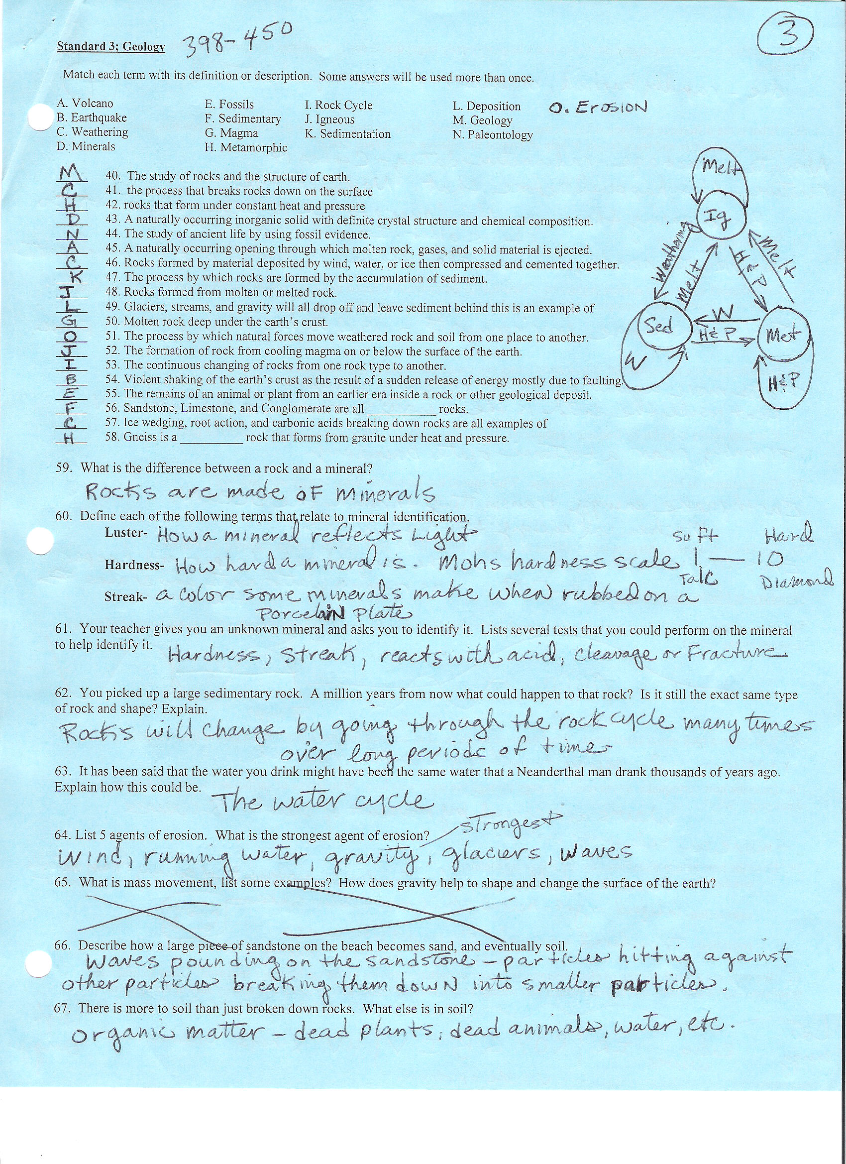 8th Grade Science Final Exam Review Answers