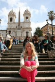 laur on the spanish steps