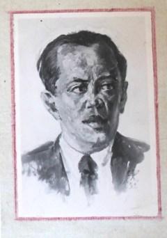 Jupp Wiertz, Plakatmaler aus Wilmersdorf, Studie auf Pappe, 1933