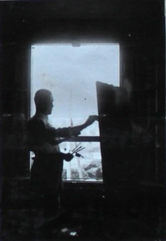 Beim Malen im Felde, 1915