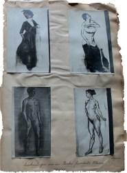 Zeichnungen aus der Becker-Gundahl Klasse Papier 1911/1912