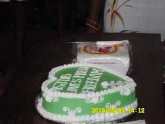 ASJUB Press Freedom Cake(reads:ASJUB loves Press Freedom)