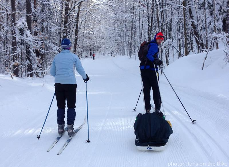 Skiers in Gatineau Park