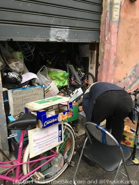 The smallest bike repair 'shop'