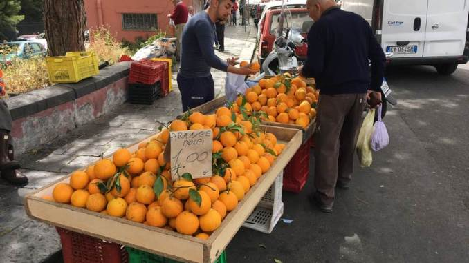 Fruit stand in Catania