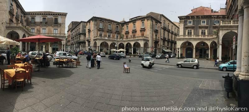 PIazza Giuseppe Mantini where Via Giuseppe Garibaldi and Via Santa Maria della Lettera meet.