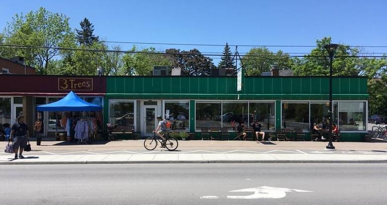 The area around the Green Door vegetarian restaurant has improved so much.