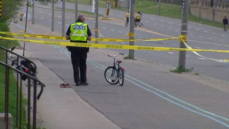 Lakeshore Toronto where a 5 year old boy fell of his bike into traffic.
