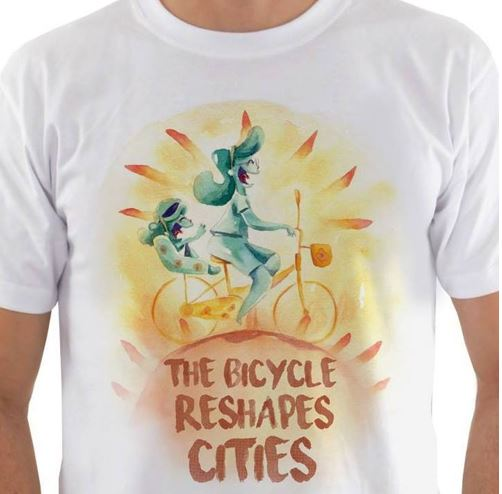 Capture yellow bicycle