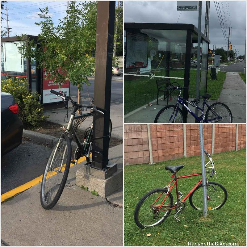 Bicycles parked at Fisher and Baseline bus stop