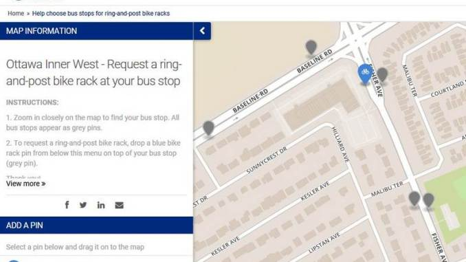 Drop the pin from the bottom left to the location you want a ring-and-post
