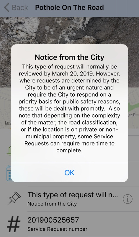 Notification from the city