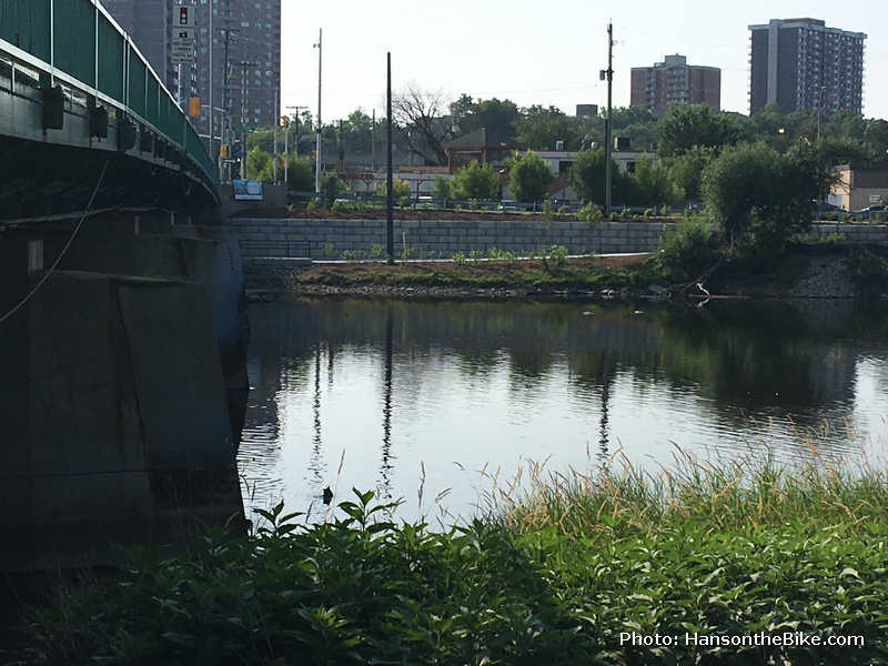 view on ramp along Rideau River