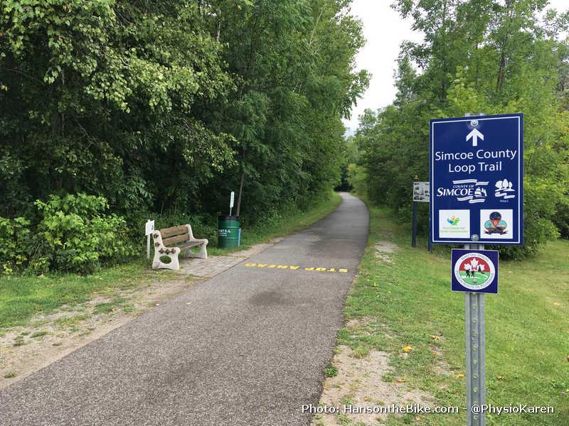 Start of the Tay Trail at Waubaushene