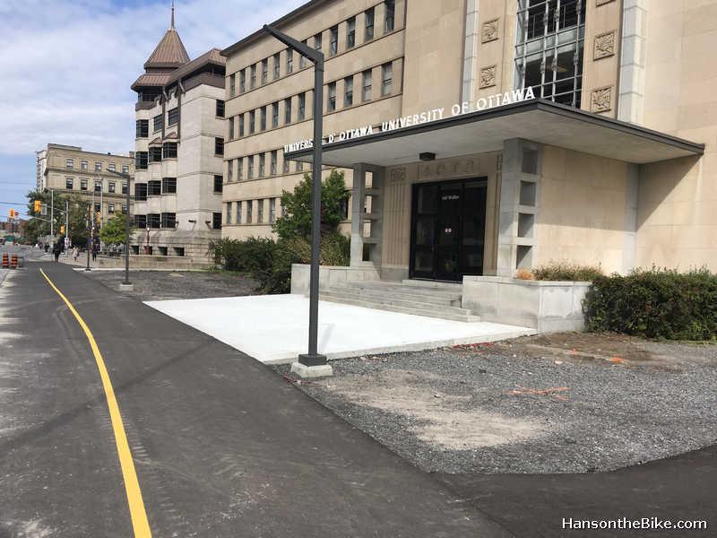 Simard Hall on Confederation pathway