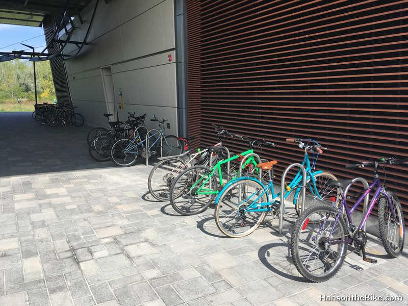 Hurdman station bike parking