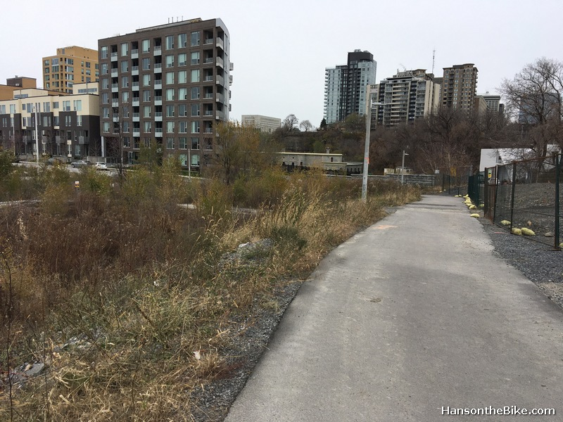 The pathway towards the east end of LeBreton flats