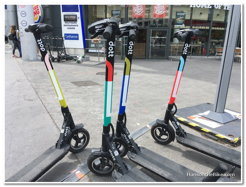 E-scooters in Lyon