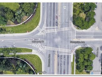 Google capture of the current intersection at Bronson and University.