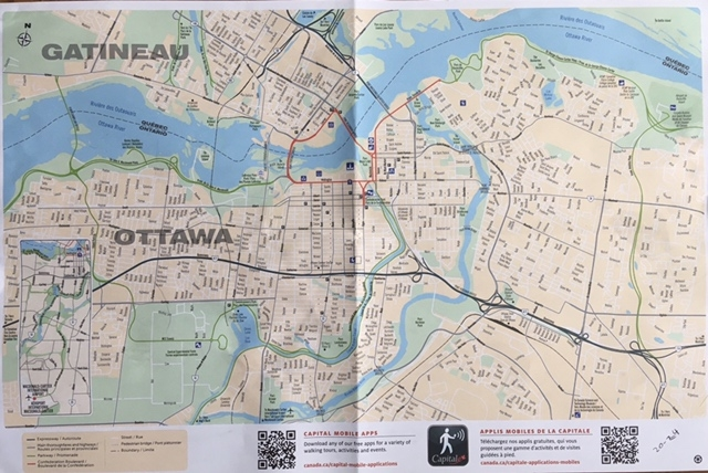 map of central Ottawa and Gatineau