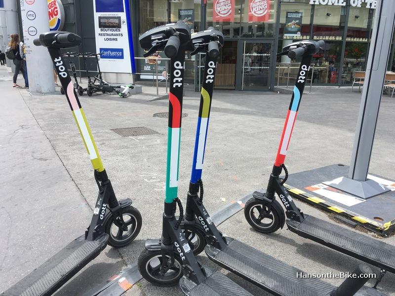 Dott E-scooters in Lyon, France