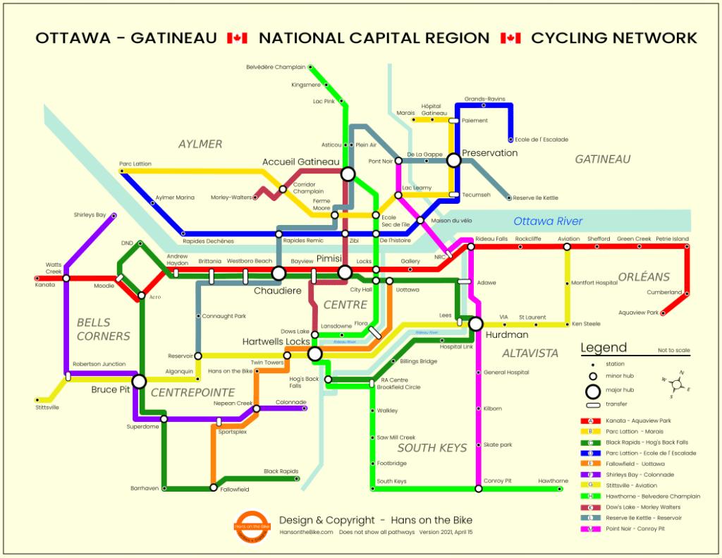 subway style cycling map
