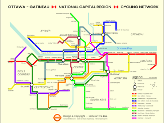 subway style cycling map