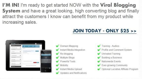 viral blogging system join