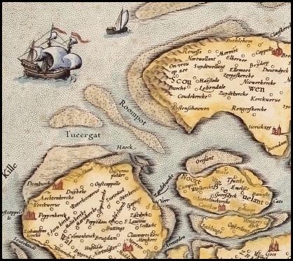 Kaart van Zeeland door Gerard Mercator (1585)