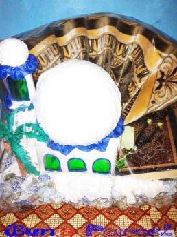seserahan pernikahan mukena bentuk masjid